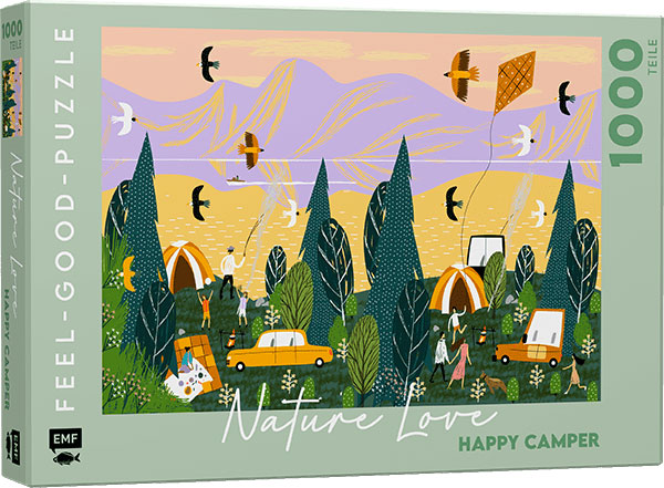 »FEEL-GOOD-PUZZLE 1000 TEILE -NATURE LOVE: HAPPY CAMPER« — EMF