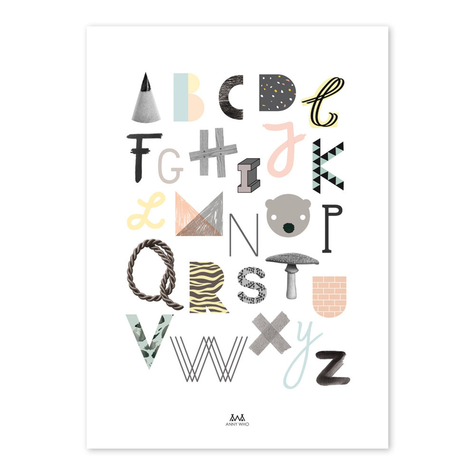 »ABC PRINT« — 50×70CM — Anny Who