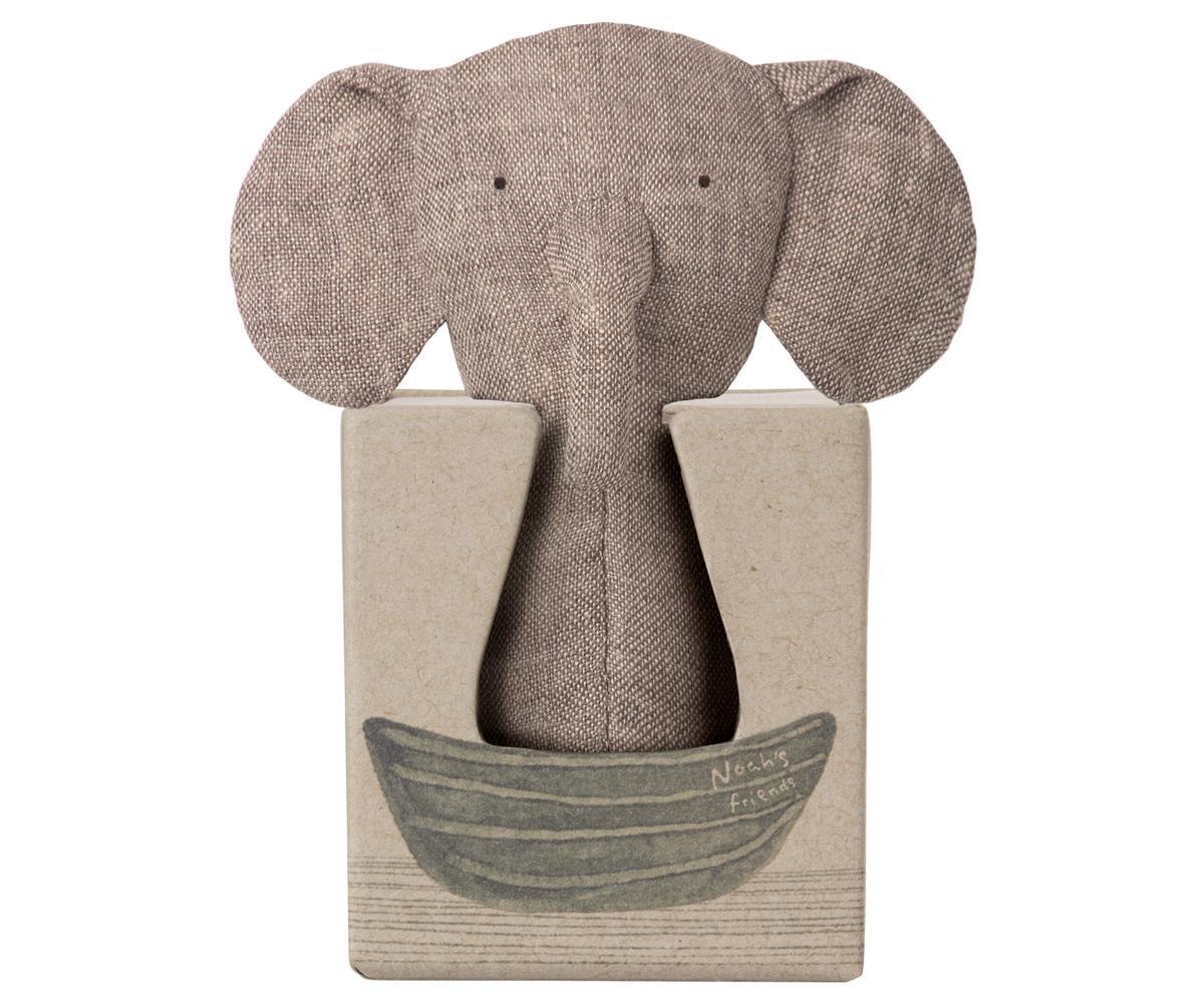 »NOAH'S FRIENDS, ELEPHANT RATTLE«  — MAILEG
