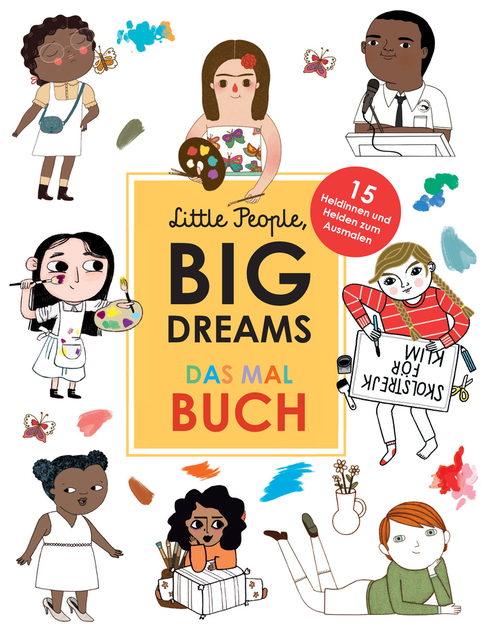 »Little People, Big Dreams: Das Malbuch« — Insel