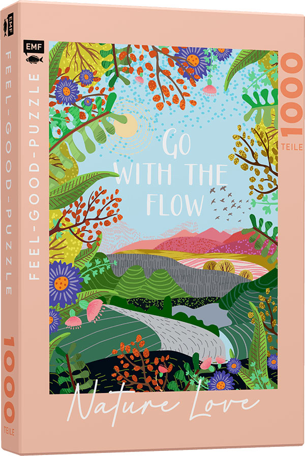 »FEEL-GOOD-PUZZLE 1000 TEILE - NATURE LOVE: GO WITH THE FLOW« — EMF
