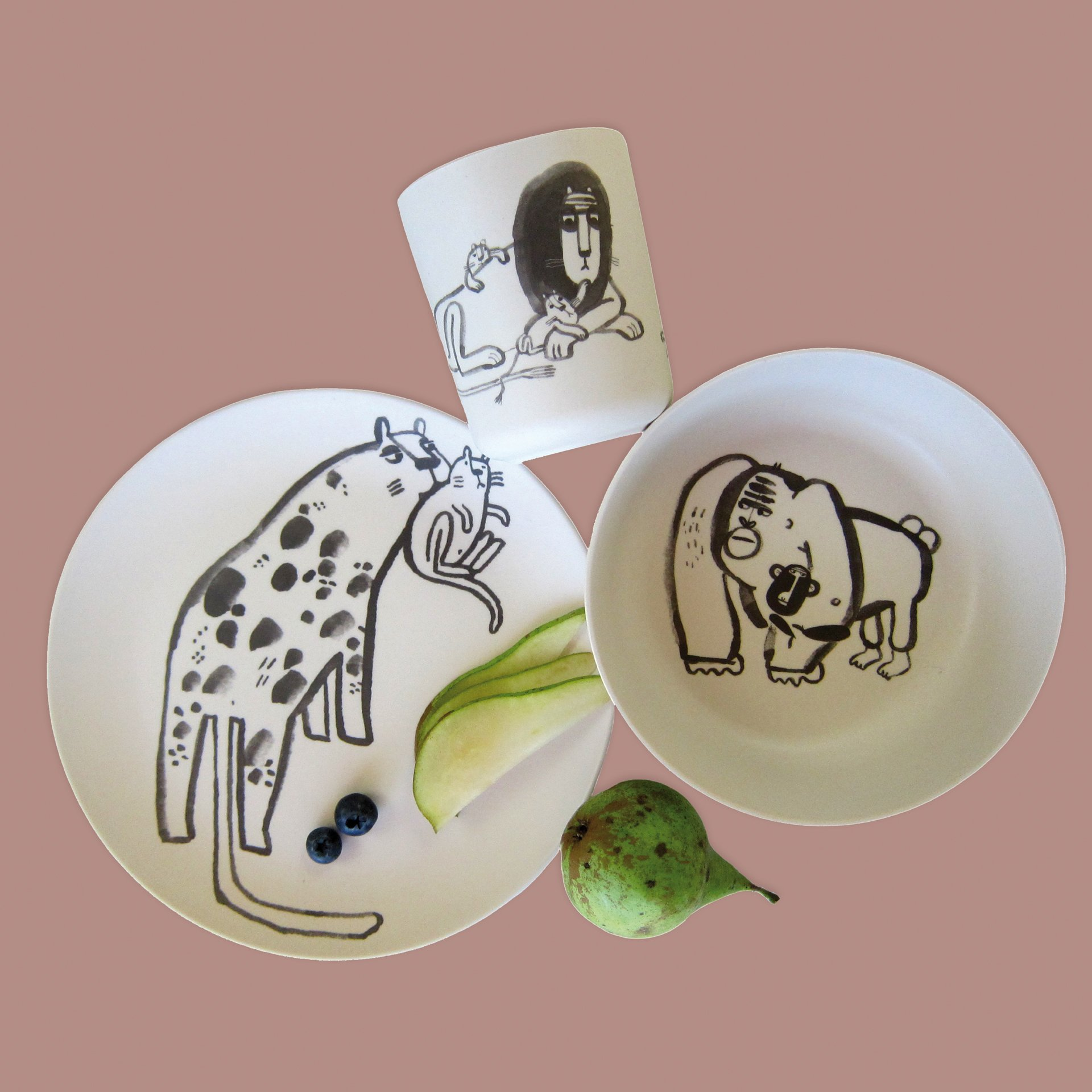 »BAMBUS DINNER SET MOMMIES AND DADDIES« — NUUK