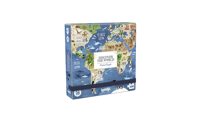 »DISCOVER THE WORLD - POCKET PUZZLE«  — LONDJI
